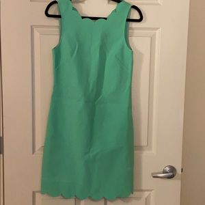 JCrew Scalloped Hem Mint Dress